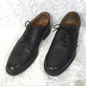 Clarks Gabson Limit Mens 9.5 Black Leather Lace Up